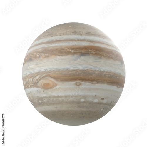 Plakat  Jupiter Planet on white. 3D illustration