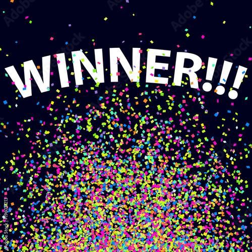 Confetti Background Winning Celebration Glitter Winner 2