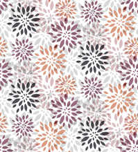 Abstract Purple Floral Seamless Vector Pattern