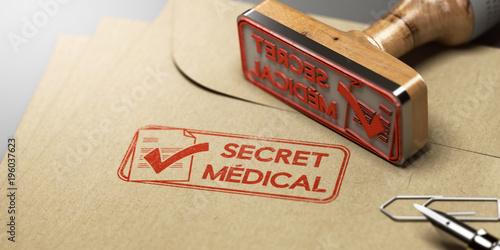 Photo  Secret médical, sécurité des dossiers médicaux des patients