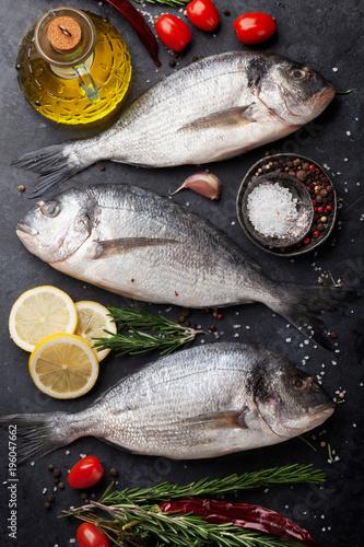 Fotografie, Obraz  Raw dorado fish
