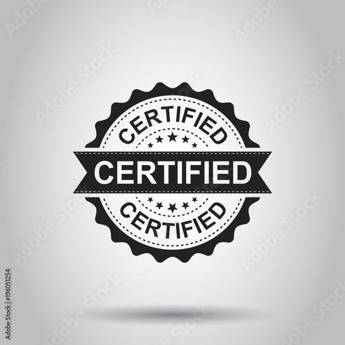 Obraz na plátně Certified grunge rubber stamp