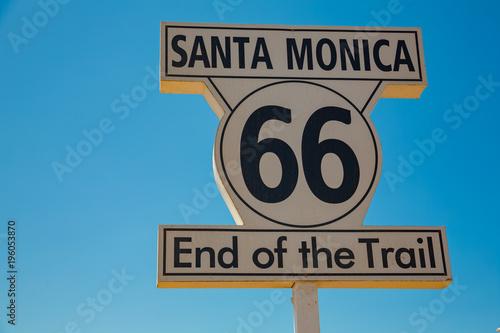Route 66 Santa Monica Beach, Los Angeles, USA
