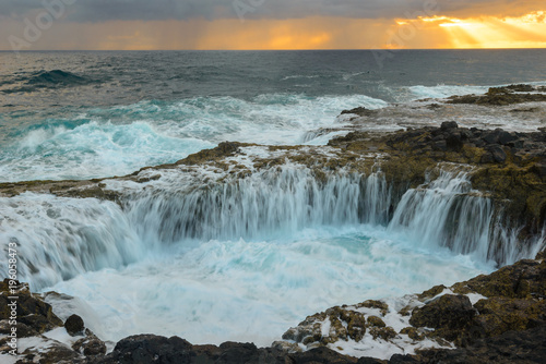 Fotografie, Obraz  Natural blowhole of La Garita, Gran Canaria, Spain