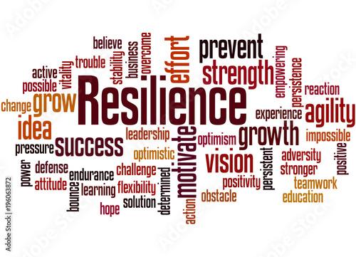 Fotografía  Resilience word cloud concept 3