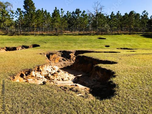 Sinkhole in Florida Fototapeta