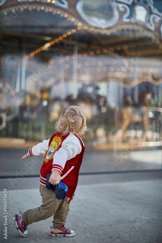 Toddler at Carousel