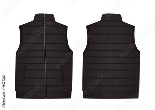 Fotografía  Grey vest. vector illustration