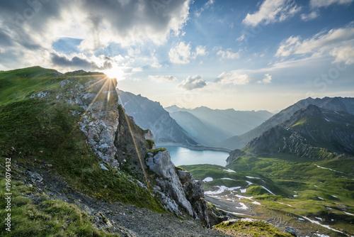Poster Taupe Sommer in den Alpen