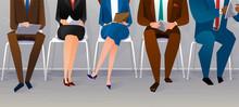 Human Resources Interview Recruitment. Job Concept