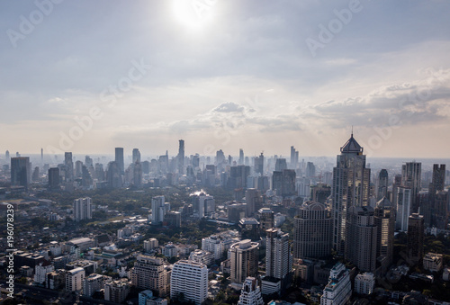 Bangkok Aerial view. Beautiful view above the skyscrapers. Canvas Print
