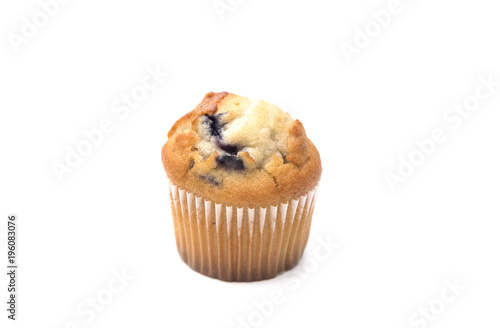 Photo Classic Blueberry Muffins Isolated on a White Background