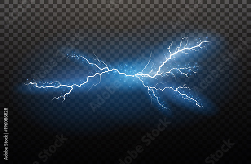 Photo  A set of lightning Magic and bright light effects