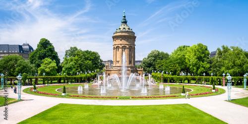 Foto auf Gartenposter Europäische Regionen Mannheim Wasserturm Panorama, Baden-Württemberg, Deutschland