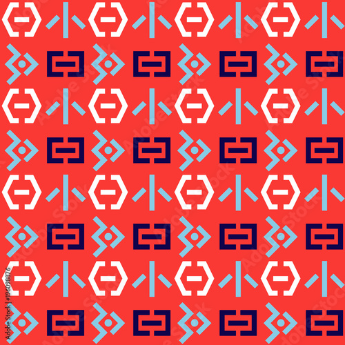 Fotografia, Obraz  Space invaders seamless pattern