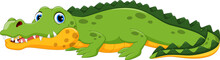 Vector Illustration Of Crocodi...