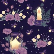 Mystery Night Seamless Pattern
