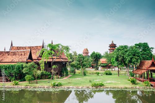 Ancient City Mueang Boran in Samut Prakan, Thailand Wallpaper Mural