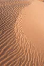 Close-up View Of Sand Pattern On The Desert.