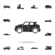 Car Crossover Icon. Detailed S...