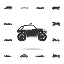 Buggy Car Icon. Detailed Set O...