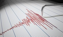 Seismograph For Earthquake Detection Or Lie Detector Is Drawing Graph. 3D Rendered Illustration.