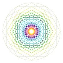Colorful Hexagon Wheel. Rainbow Color Concept. Vector Illustration.