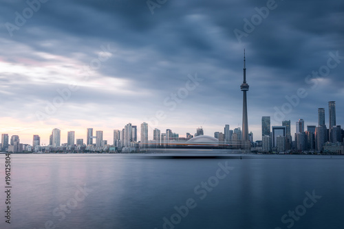 Modern buildings in Toronto city skyline at night, Ontario, canada Slika na platnu