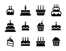 Birthday Icon Collection - Birthday Food Cake Set
