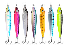 Fishing Lures Set Realistic Hooks Collection 1