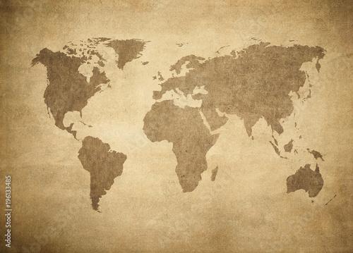 Foto op Aluminium grunge map of the world.