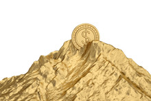 Gold Coin On Gold Mountain.3D ...