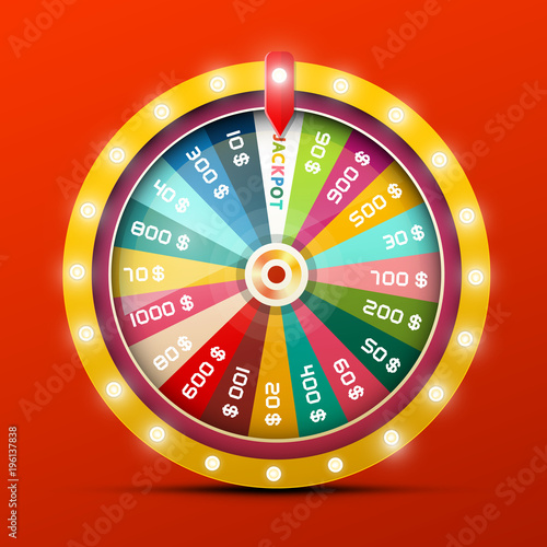 Wheel of Fortune with Jackpot Win Tableau sur Toile