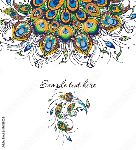 Invitation Card Templates With Peacock Patterned Kaufen Sie Diese