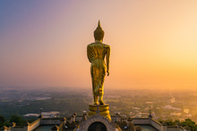 Golden Buddha Statue Beyond Na...