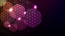 Glowing Flower Of Life