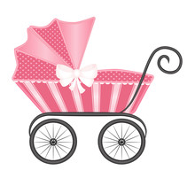 Vintage Baby Pram Carriage Vec...