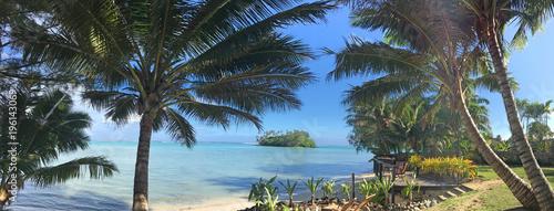 Fényképezés Panoramic landscape view of Muri lagoon in Rarotonga Cook Islands