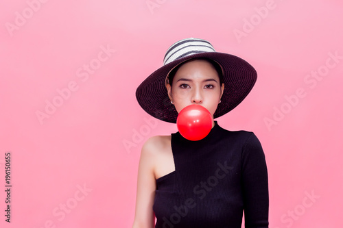 Young Sweet And Attractive Woman In Luxury Fashion Lifestyle