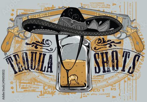 Fotografie, Obraz  Last shot of tequila