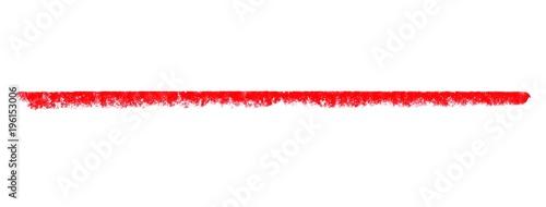 Roter breiter Kreidestreifen