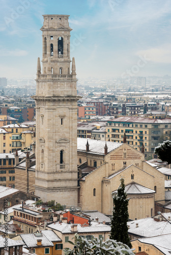Keuken foto achterwand Seoel Verona Cathedral with the Snow - Italy