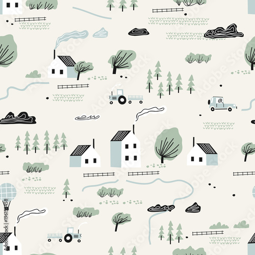 seamless-colorful-pattern-with-house-trees-and-mountains-nordic-nature-landscape-concept-perfect-for-kids-fabric-textile-nursery-wallpaper