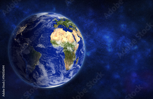 Deurstickers Nasa Earth globe , view from space, 3D rendering. Elements of this image furnished by NASA