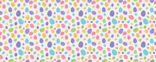 Easter Pattern With Colourful Eggs. Vector.