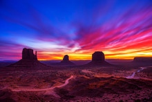 Sunrise Over Monument Valley, ...