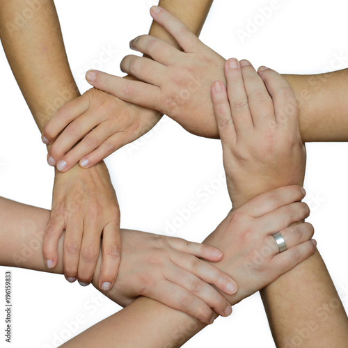 Fototapety, obrazy: mani di donne unite in cerchio