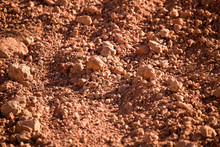 Red Clay Soil On Nature As A Background