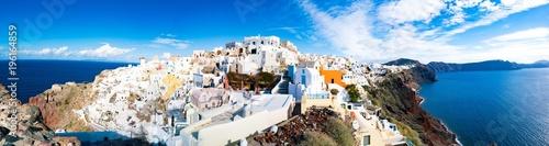 Fototapeta Panorama of Oia Village on Santorini island Greece obraz