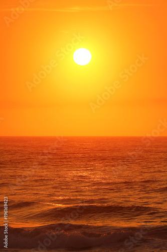 In de dag Ochtendgloren Sunrise over the Indian Ocean